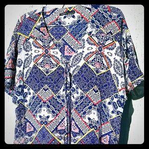Gypsy 05 Sheer Tunic Boho Mini Dress